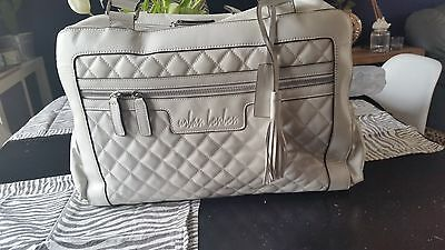 Urban Bonbon Madison white quilted  leather baby changing bag SALE SALE