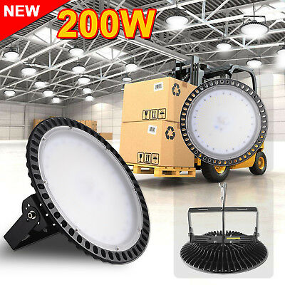 200W Ultra-thin LED High Bay Light Commercial Warehouse Industrial Factory Shed