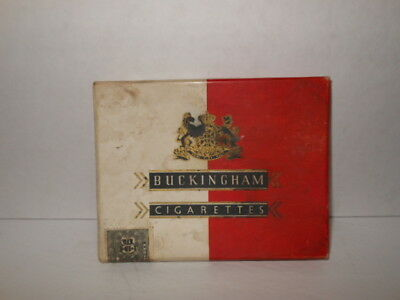 Buckingham Cigarettes Carboard Box