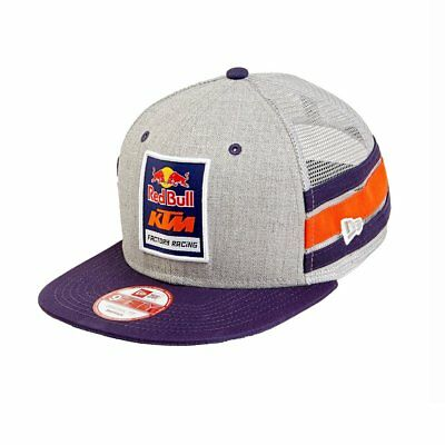 Classic Authentic KTM Racing RED BULL Gray Snapback Trucker Hat(LIMITED EDITION)