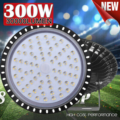 300W Ultra-thin LED High Bay Light Commercial Warehouse Industrial Factory Shed