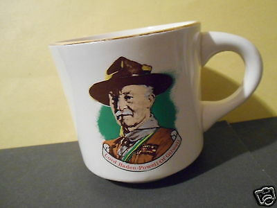 Vintage Boy Scouts Mug,Lord Baden Powell of Gilwell