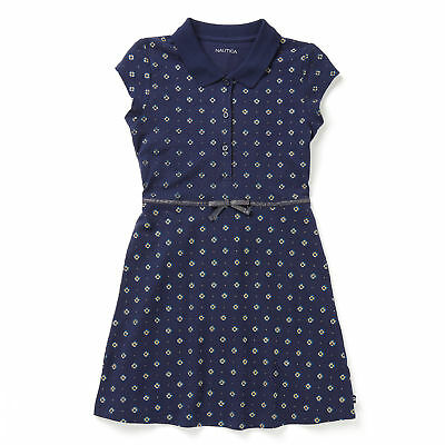 Nautica Girls' Glitter Print Polo Dress (8-16)