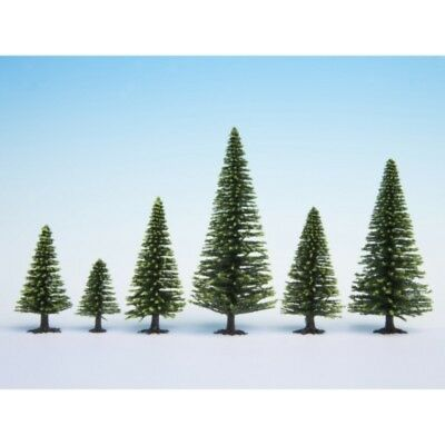 NOCH - 26925 - Model Spruce Trees, 10 pieces, 5 - 14 cm high H0, TT