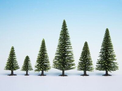 NOCH - 26926 - Model Spruce Trees, 5 pieces, 5 - 9 cm high H0, TT