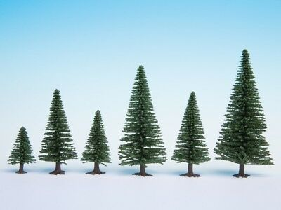 NOCH - 26920 - Model Fir Trees, 10 pieces, 5 - 14 cm high H0, TT