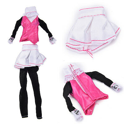 """Fashion Beautiful Handmade Party Clothes Dress for 9"""" Barbie Doll RS"""