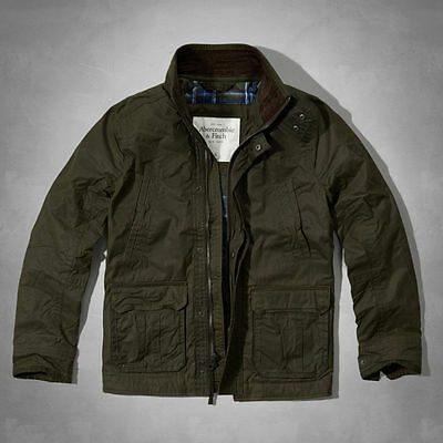 Nwt Abercrombie & Fitch Mens Cooper Kiln Waxed Cotton Jacket Size M