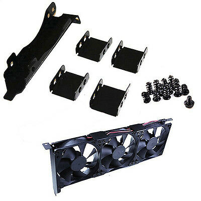 Mount Rack PCI Slot Bracket for Video Card 3 Fans With Screws Repairing Pack