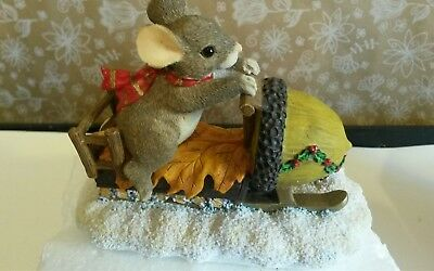 Charming Tails  Maxines Snowmobile Ride Naled Fall Holiday Christmas