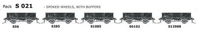 SDS MODELS S TRUCK S 021 Spoked wheels with buffers IN0532 (HO SCALE)