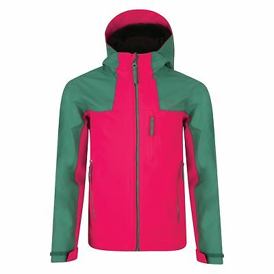 Dare2b Breathable Highly Waterproof Jacket for Kids - Neon Pink/ Green 3-4 years
