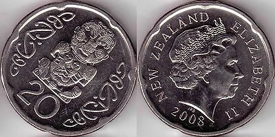 2008 New Zealand 20 cent coin