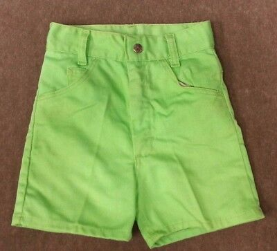 VTG 70's Winnie The Pooh Sears Shorts Green Size 6x Girls PERMA-PREST