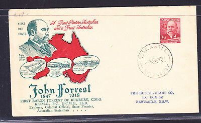 """FDC: 1949 JOHN FORREST 2 1/2d  ON   """"WIDE WORLD""""   COVER"""
