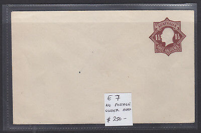 1918 1 1/2d  BLACK BROWN ON WHITE  EMBOSSED ENVELOPE  E7  MINT CONDITION SCARCE!