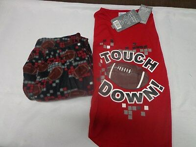 New Boys touch down Micro Fleece 2 piece pajama set size 8/10, 12/14, 16/18