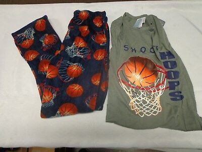 New Boys Basketball Micro Fleece 2 piece pajama set size 8/10, 12/14, 16/18