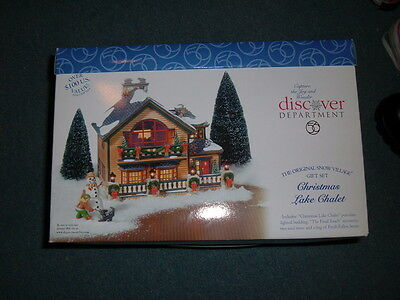 Department 56 Christmas Lake Chalet 56.55061 New in Box