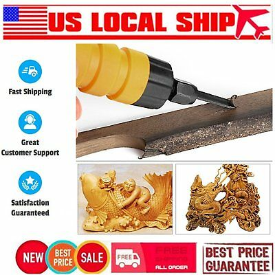 Woodworking Electric Carving Machine Carving Chisel Tool + 5 Carving Blades XK