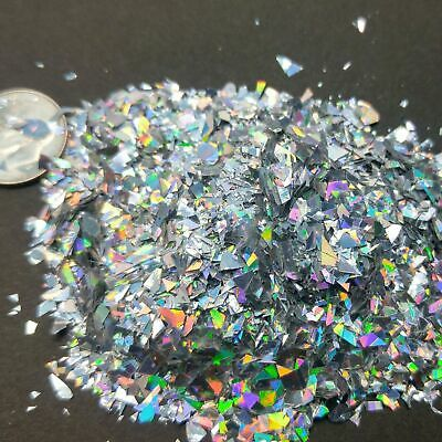 Holographic Large Glitter Shreds Acrylic Nail Art UV Gel  Resin Crafts Ornaments