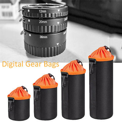 Soft Neoprene DSLR Camera Lens Pouch Protective Bag Case For Canon Nikon Sony