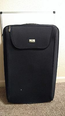 """Crown Navy Blue Rolling Case Luggage Carry Bag Wheel Travel  Suitcase 30"""" x 20"""""""