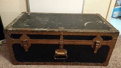 Vtg Military Metal Medic Storage Drawer Case Army Equip Trunk  Foot Locker Chest