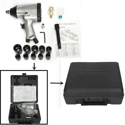 "17PC 1/2"" Air Impact Wrench Kit Rattle Gun Socket Tool Set Pneumatic Metric AU"