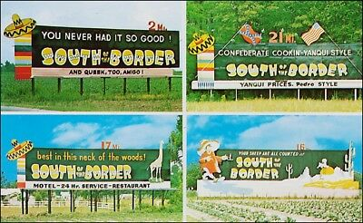 Roadside Attraction: 4 Signs, South of the Border, Hamer, SC. Flags, Pedro.