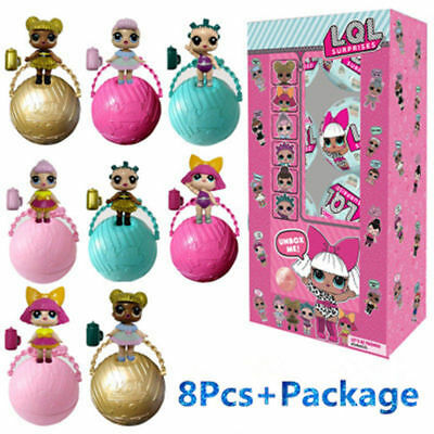 8x LOL Surprise Series 2 Lil Sisters Ball 5 Layers Surprise Girls Christmas Gift