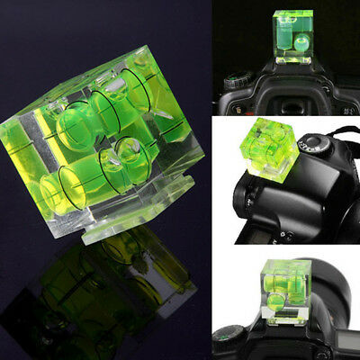 New Triple 3 Axis Bubble Spirit Level Hot Shoe Adapter For Camera Nikon Olympus