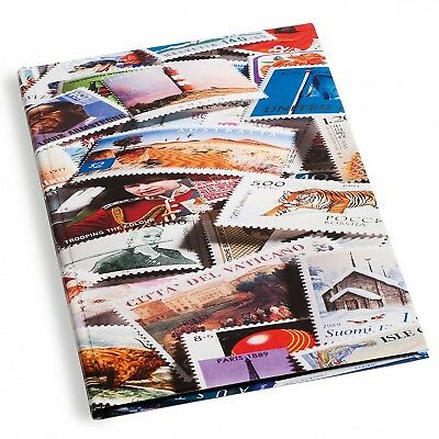 DIN A4 Stockbook - 32 Black Pages, Stamp illustrated cover - Lighthouse Product
