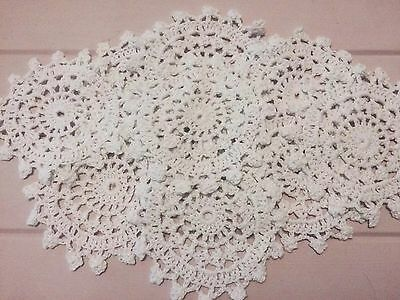 10 X  Bulk New 12 Cm White Crochet Lace Doilies
