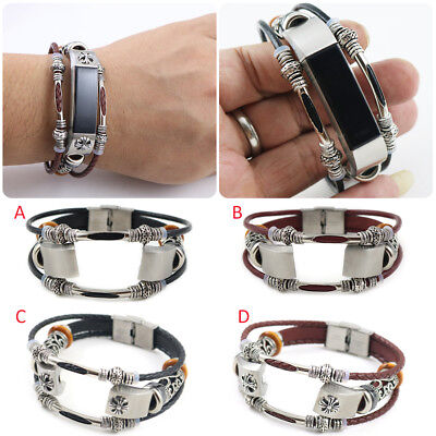 FitBit Alta HR Wristband Strap Bracelet Replacement Fashion Retro Leather Band
