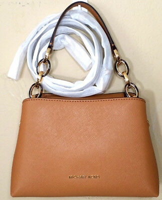 14d88cc75935 ... michaelkors satchelshoulderbag d1510 411fc  purchase michael kors  portia small satchel shoulder bag saffiano leather saddle 3e67d 15978