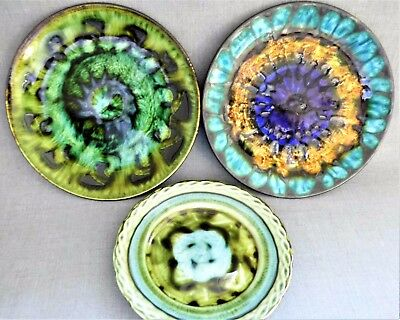 3 x Welsh Studio Pottery Plates