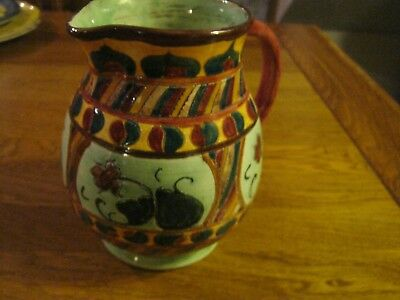 attractive shorter and son genuine hand painted jug