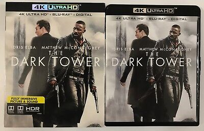 The Dark Tower 4K Ultra Hd Blu Ray 2 Disc + Slipcover Sleeve Free World Shipping