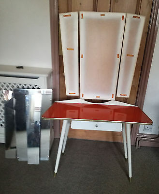 Unusual Vintage Dressing Table 1950s American Diner Style Good Condition