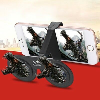 """Portable 3D Virtual Reality Glasses Suitable for 4.0-6.5 """"Phone With Table Stand"""