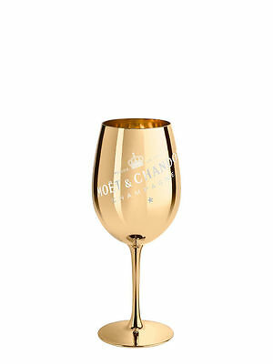 Moet Chandon Golden Glass Goblet  Champagne Glass Flute X 1  Rare New Style