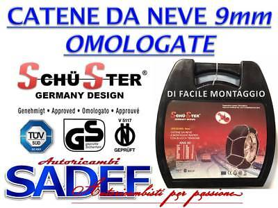 CATENE DA NEVE 9mm GERMANY DESIGN OMOLOGATE PER PNEUMATICI 195 50 R16 GR 70