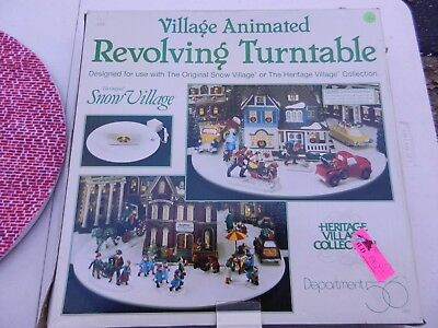 Dept 56 Heritage Village Animated Revolving Turntable #52640 With Box