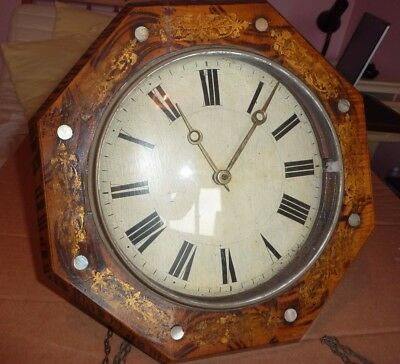 Large Hexagonal Striking Wall Clock - For Restoration