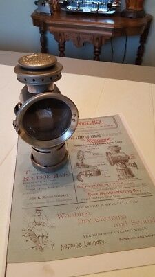 Neverout Kerosene Bicycle Lamp  1897 Model