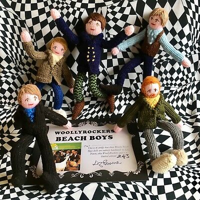 Pet Sounds Era Beach Boys Hand Knitted Limited Edition Dolls They Bend With Wire