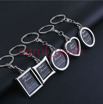 5 pcs Fashion Mixed Custom Photo Frame Key Chain Keyrings Decoration DIY Gift