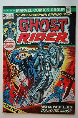 GHOST RIDER #1 FN/VF (1973 Marvel) Signed Stan Lee!!!