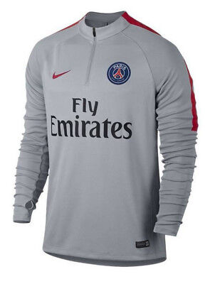 Nike Paris Saint-Germain PSG Squad Drill Top Training Grey Size M 809738 013